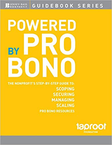 Book cover of Powered by Pro Bono