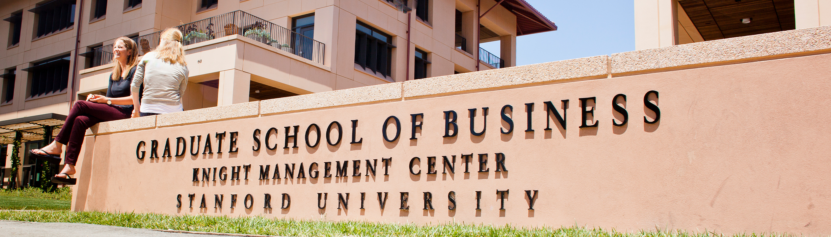 Graduate School of Business sign