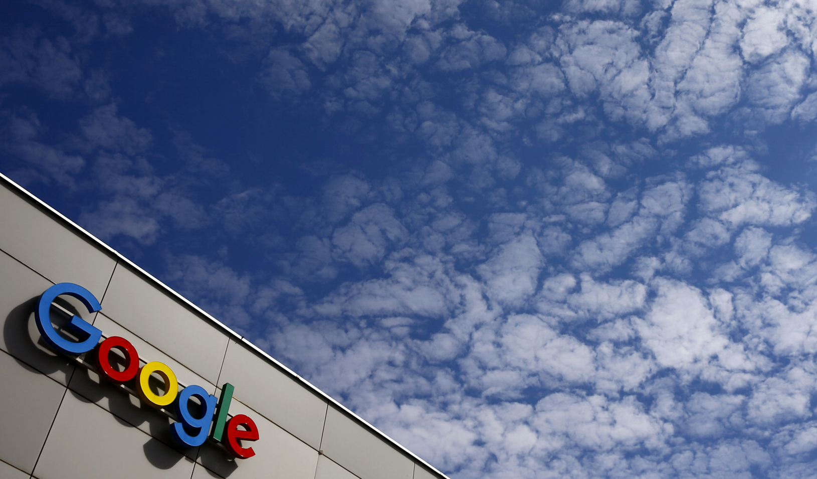 A logo of Google is seen on an office building. Credit: Reuters/Arnd Wiegmann