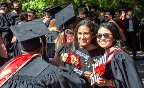 Happy graduating students