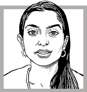 Illustration of Suhani Jalota. Credit: Agata Nowicka