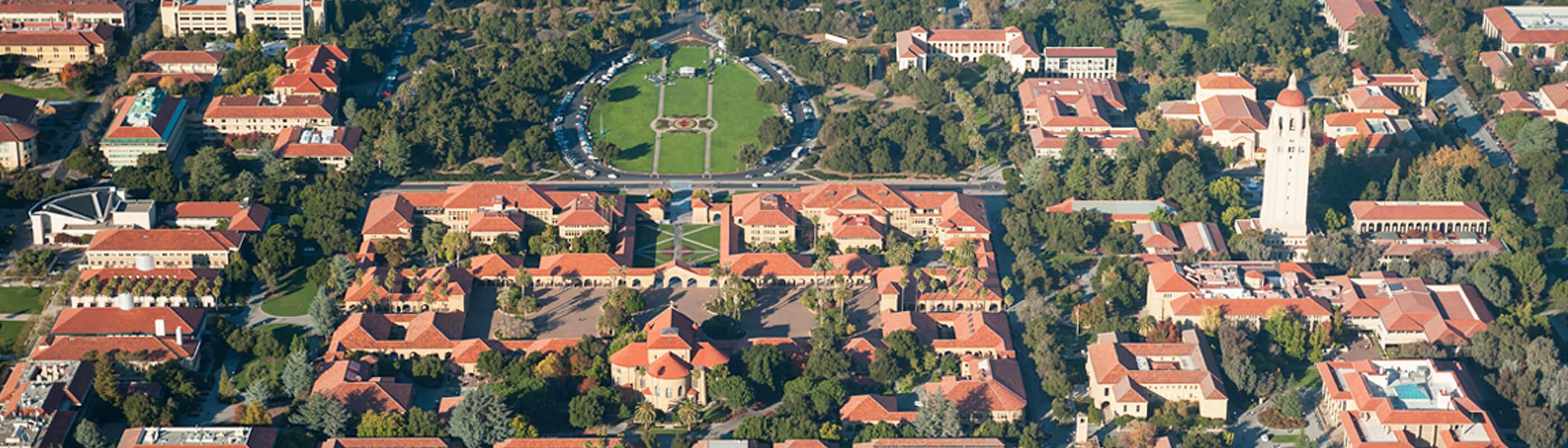 Ariel view of Stanford University