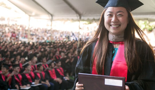 Stanford GSB student at graduation