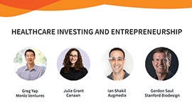 Panelists for the healthcare investing panel