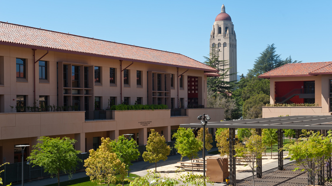 Knight Management Center with Hoover Tower in background