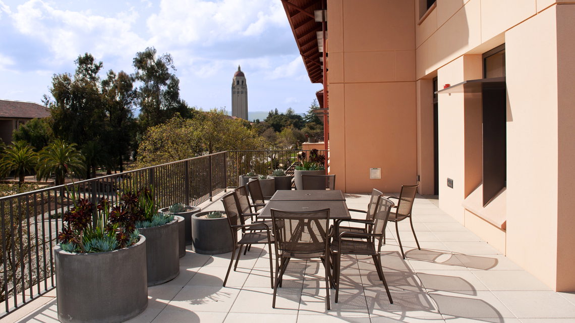 Terrace on second floor of Patterson Building