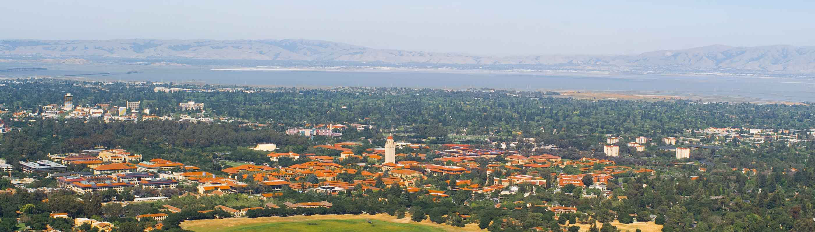 View of Silicon Valley including Stanford