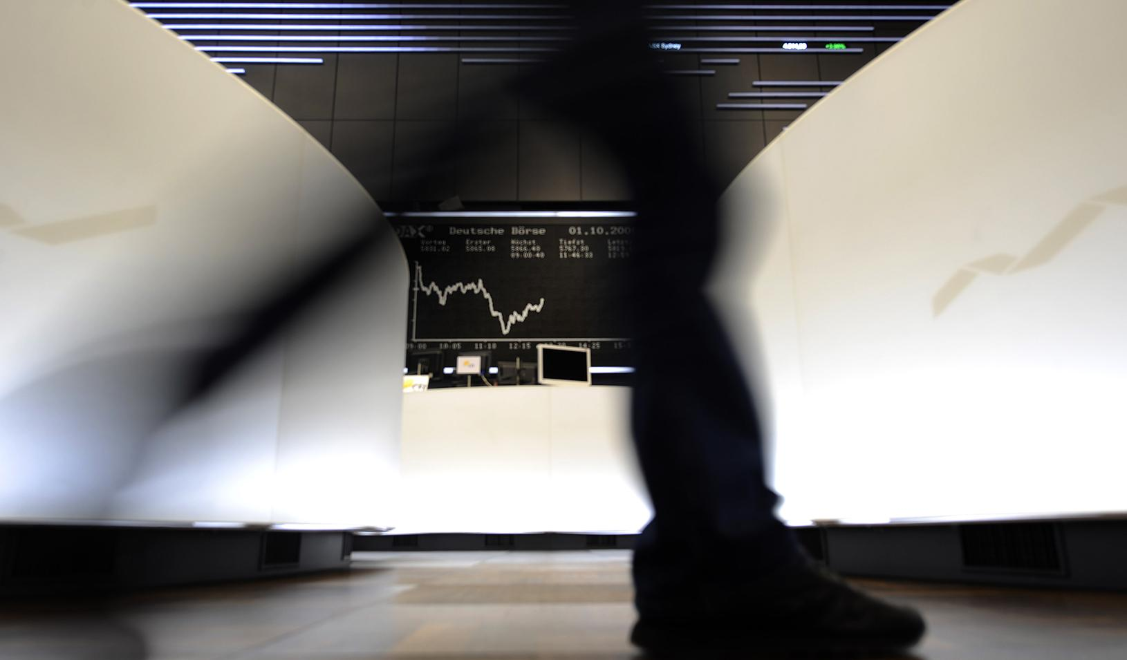 A picture of a stock market ticker