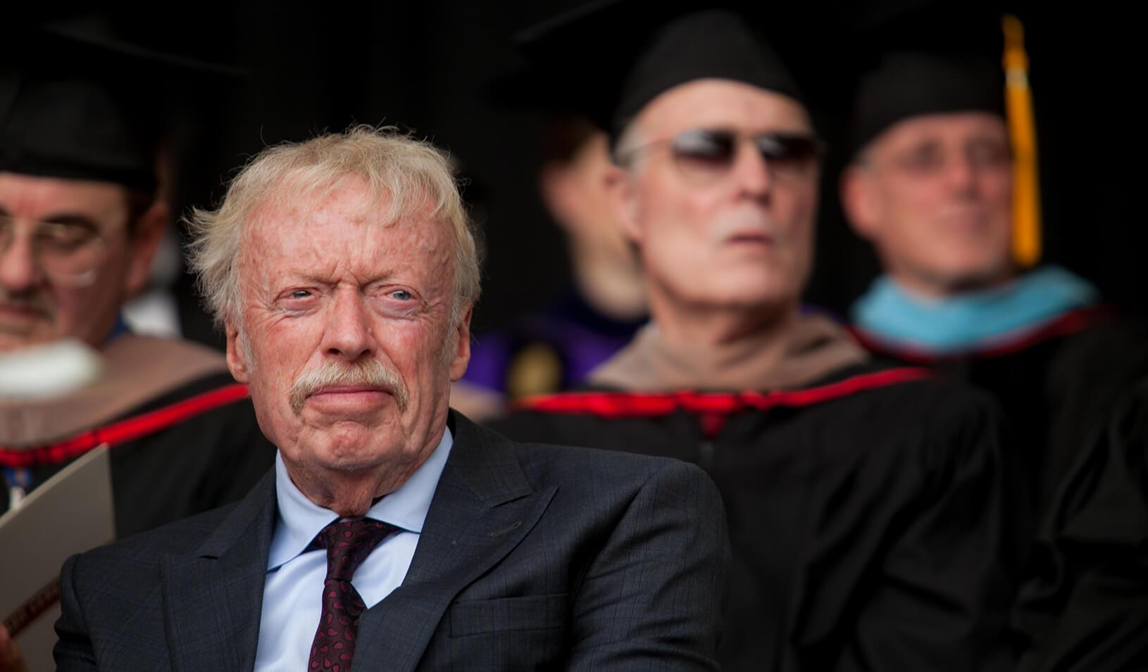 Phil Knight at the 2014 Stanford GSB Graduation. Credit: Saul Bromberger