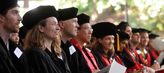 Stanford GSB graduates at diploma ceremony