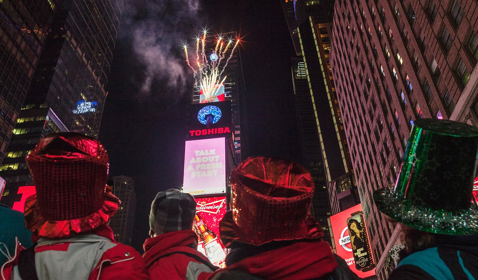 Fireworks in Times Square