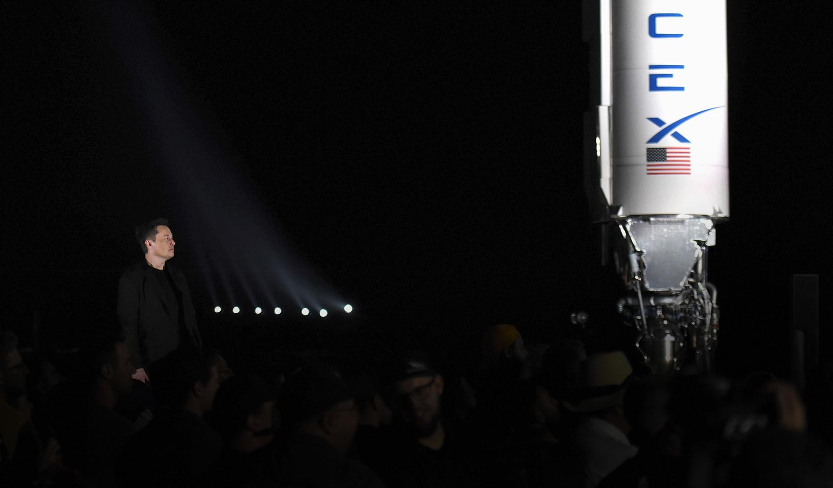 SpaceX's Elon Musk gives an update on the company's Mars rocket Starship. Credit: Reuters/Callaghan O'Hare