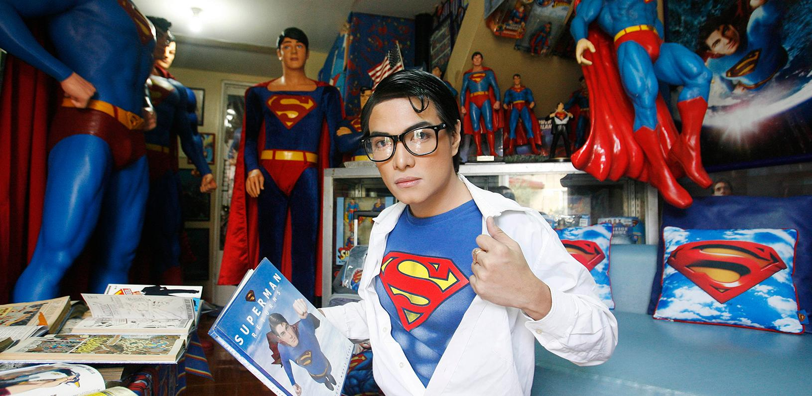 Superman fanatic shows off his collection