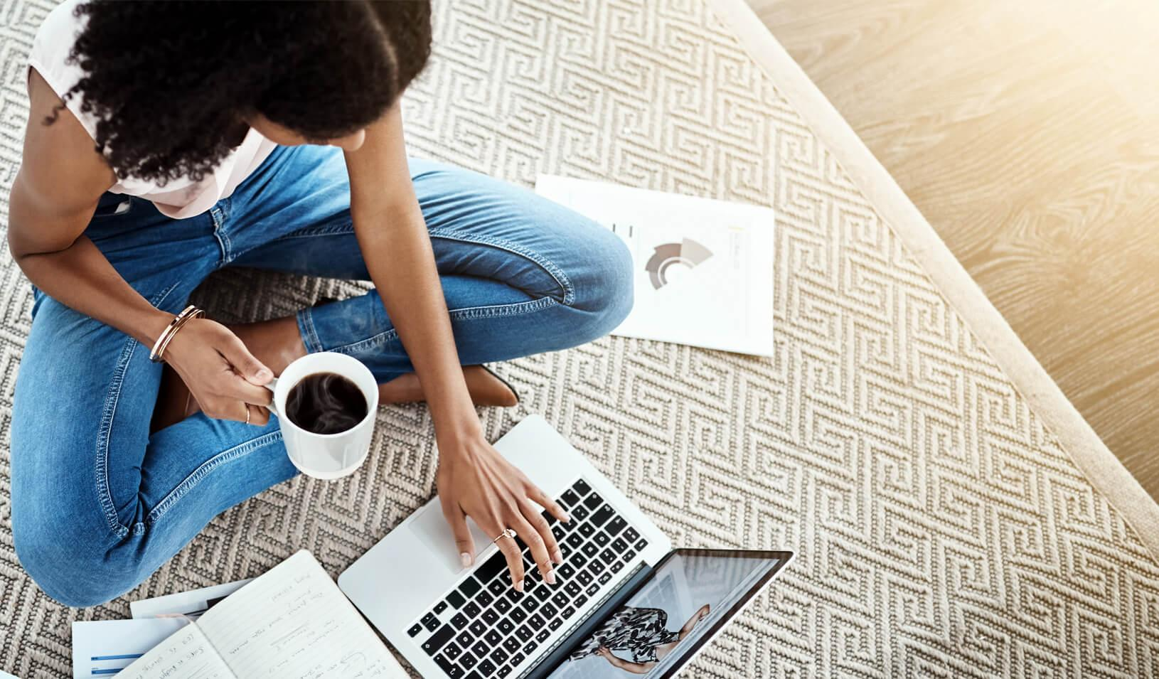 A young businesswoman working on her laptop in her home office. Credit: iStock/PeopleImages
