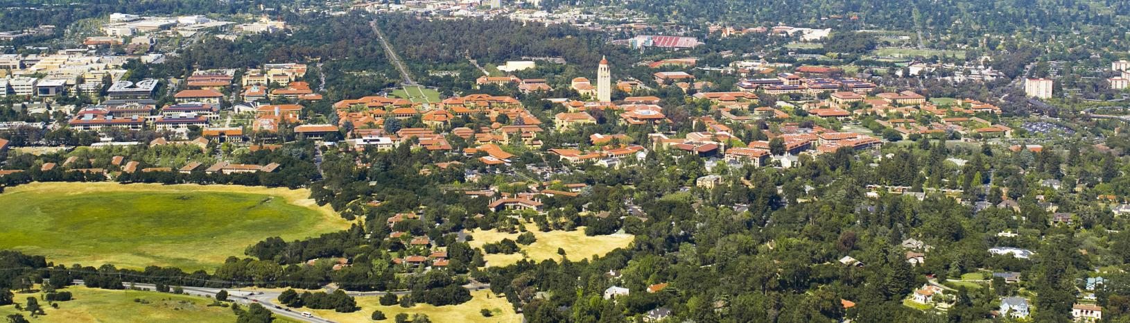 An Aerial View of the Stanford Campus