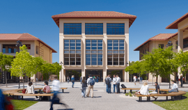 The Bass Center library at Stanford GSB