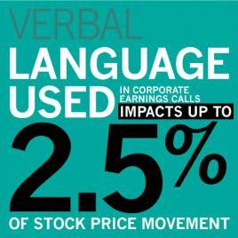 VERBAL: Language used in corporate earnings calls impacts up to 2.5% of stock price movement
