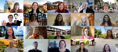Admission team in a Zoom call. | Courtesy of Stanford MBA Admissions