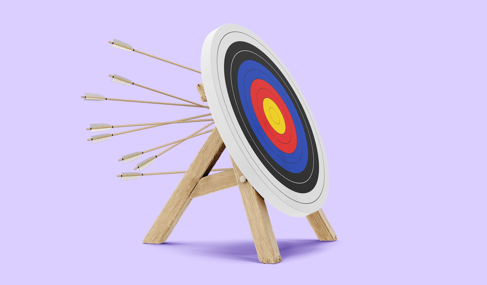 A photo-illustration of a target with arrows sticking out of the back. Credit: Alvaro Dominguez