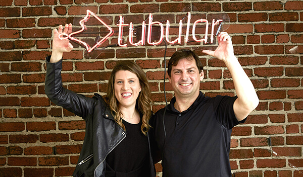 Allison Stern, MBA '12, and Rob Gabel, MBA '08, cofounded Tubular Labs.
