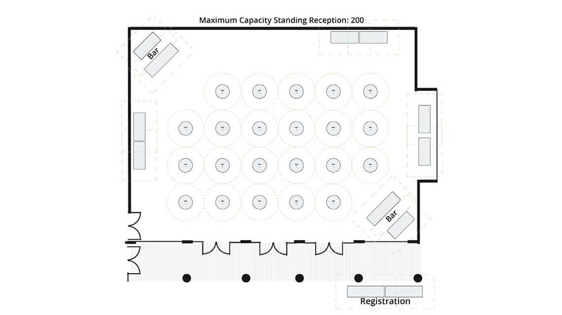 GSB Common - standing reception configuration