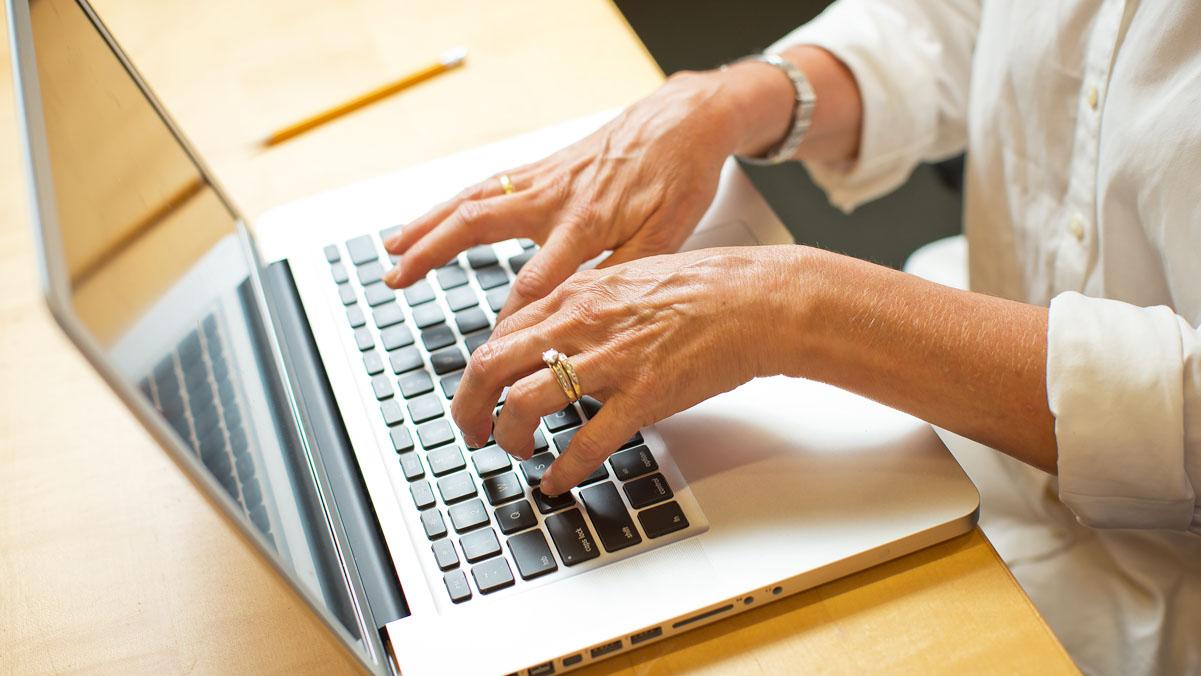 INSP Participant Using a Laptop