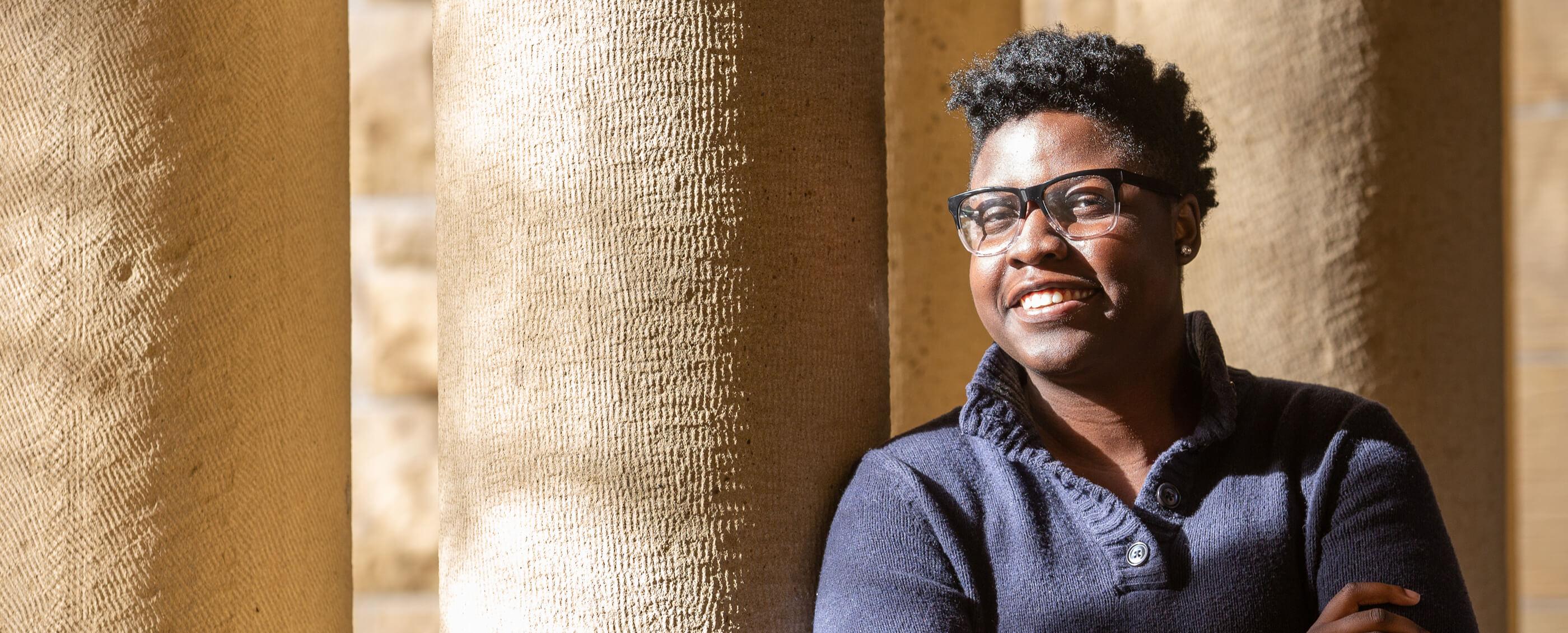 Jess Adepoju, MBA '21. Credit: Kiefer Hickman