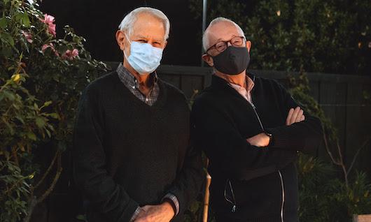 Photo of Robert Wilson and Paul Milgrom