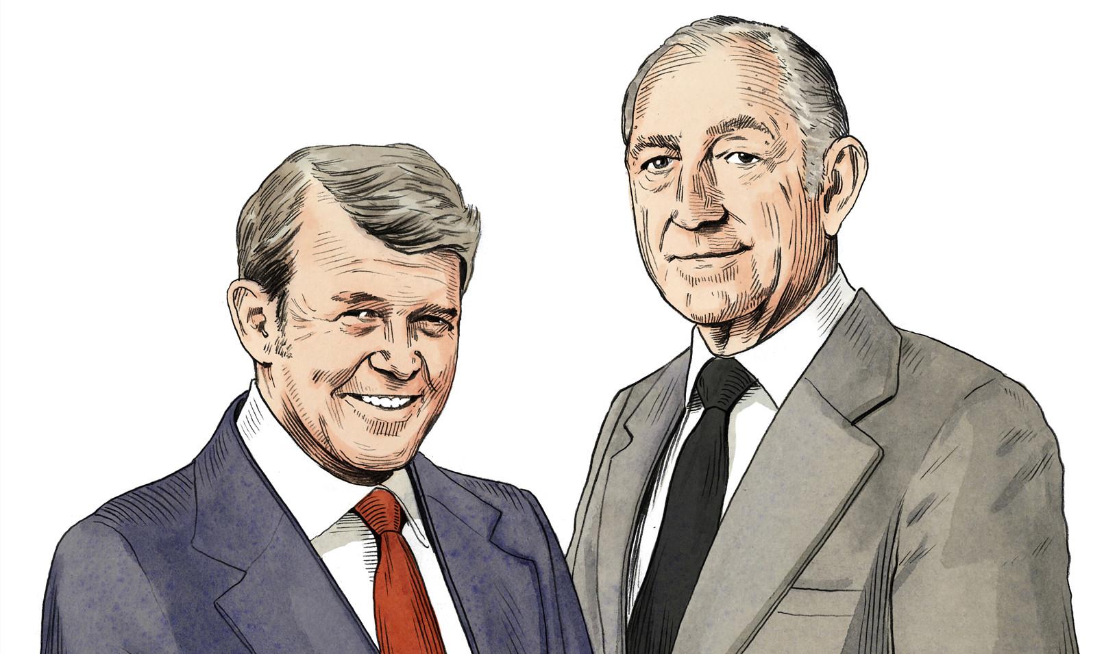 William Hewlett, left, and David Packard (Photo by Joe McKendry)
