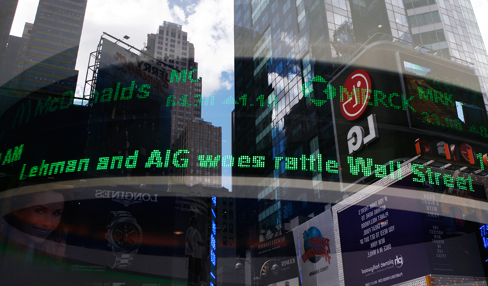 An electronic ticker is seen inside a Bank of America branch in New York | Reuters/Shannon Stapleton