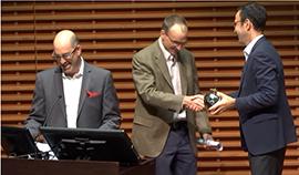 Raphe Beck, Professor Paul Oyer, Dean Jonathan Levin