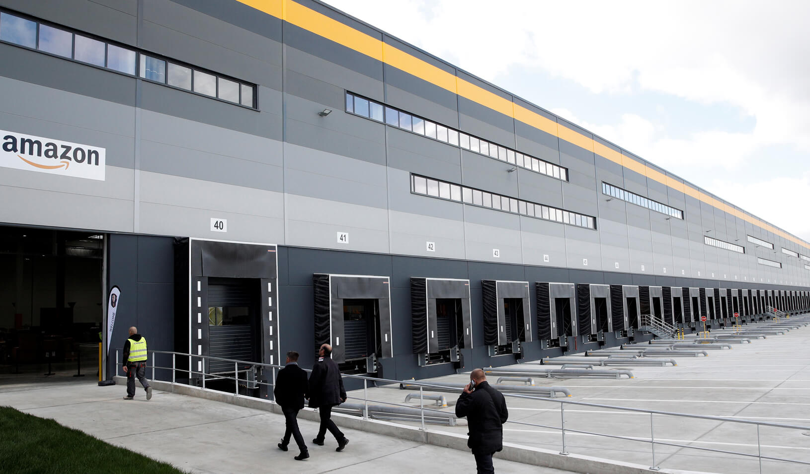 Exterior view of the Amazon factory in Boves, France. Credit: Reuters/Yoan Valat/Pool