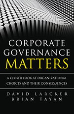 Book cover for Corporate Governance Matters