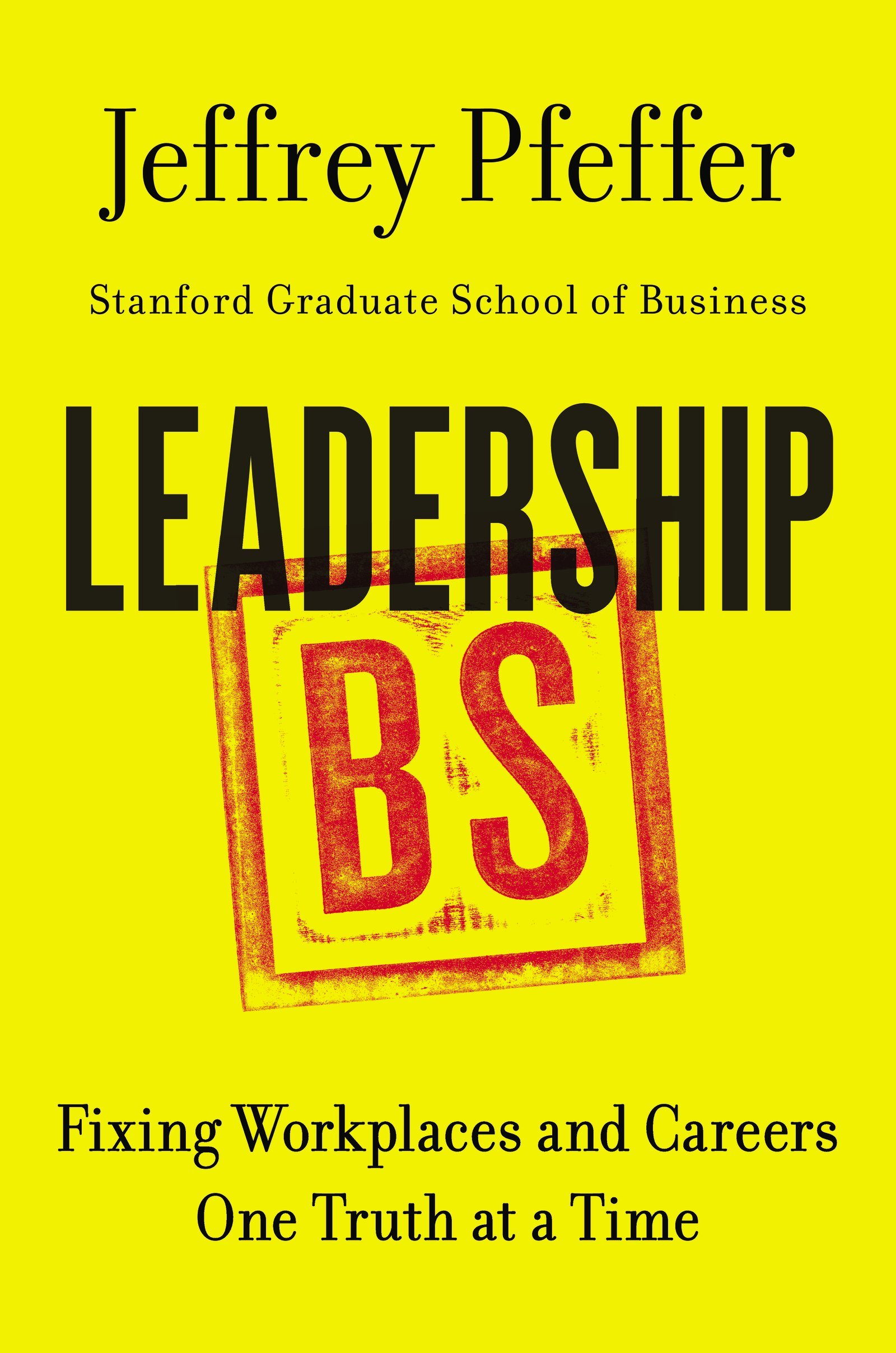 book cover for Leadership BS
