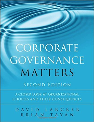 Book cover: Corporate Governance Matters, 2nd edition