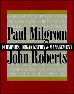 Economics Organization & Managemetn