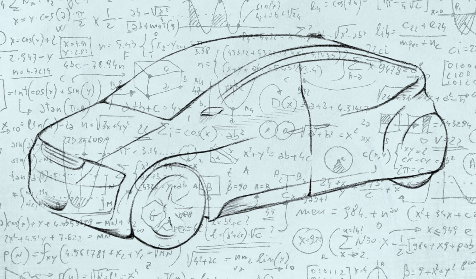 Sketch of possible future car. Credit:  Tricia Seibold (with iStock/maxiphoto)