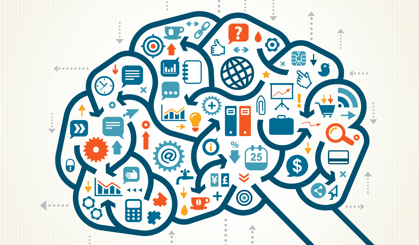 An illustration of a brain thinking of many things in many ways | iStock/DrAfter123