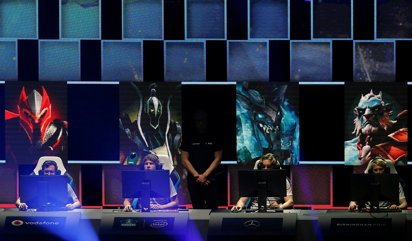 Dota 2 Major - OpTic Gaming during the game 1 Draft of the grand final Action. Credit: Reuters/Ed Sykes