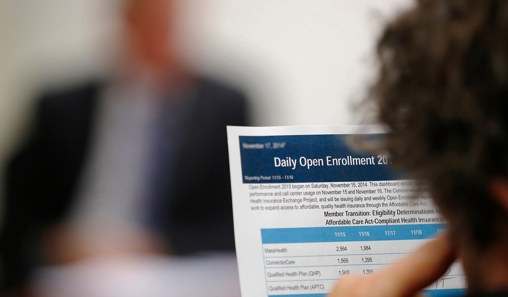 A man reads a health insurance form | Reuters/Brian Snyder