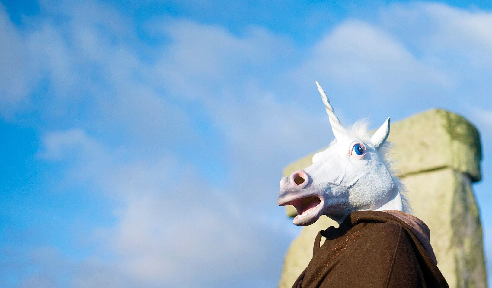 A reveller dressed as a unicorn. |  Reuters/Kieran Doherty