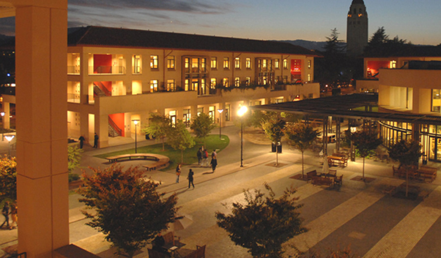 Knight Management Center at night