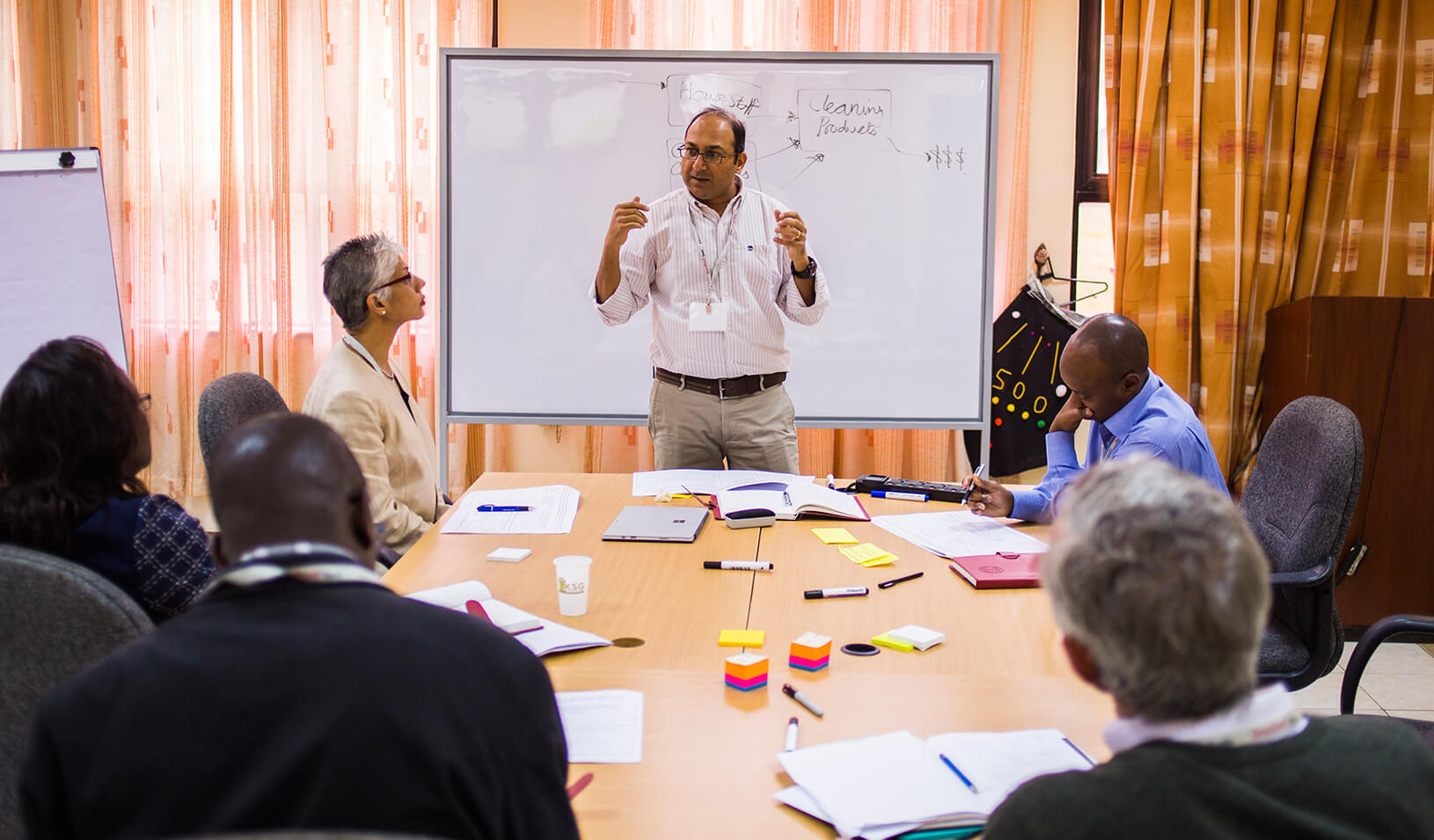 Bijesh Shah of SteelWool Africa in a breakout session of the Seed Transformation Program
