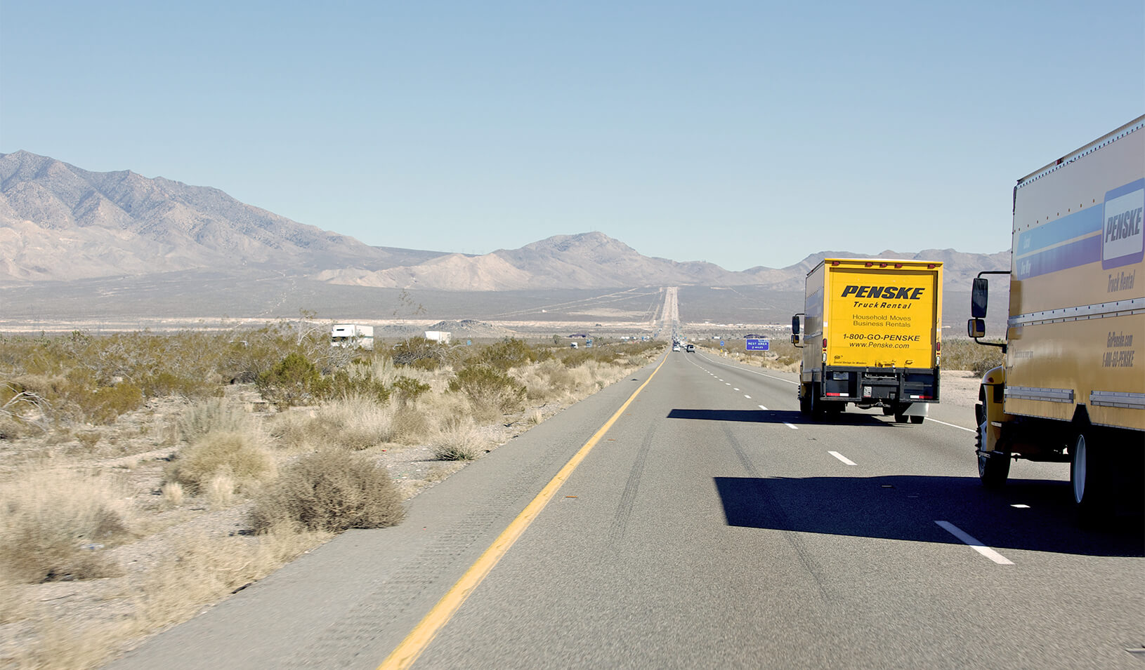 Moving vans headed east out of California. Credit: iStock/eyecrave