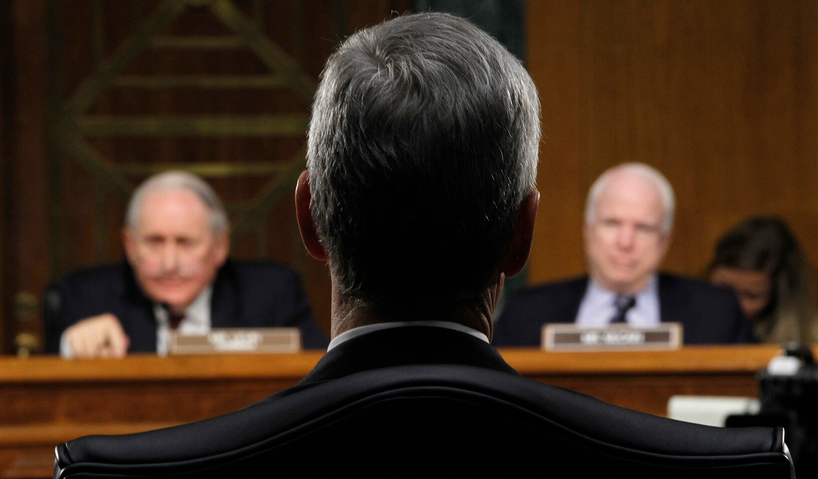 Apple CEO Tim Cook (center) was grilled in 2013 by a Senate subcommittee investigating the company's offshore tax strategies. | Reuters/Jason Reed