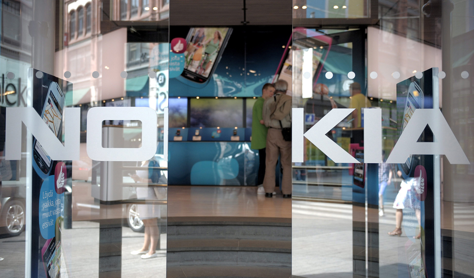 Open glass doors with Nokia logo etched in them | Reuters/Jussi Helttunen/Lehitikuva