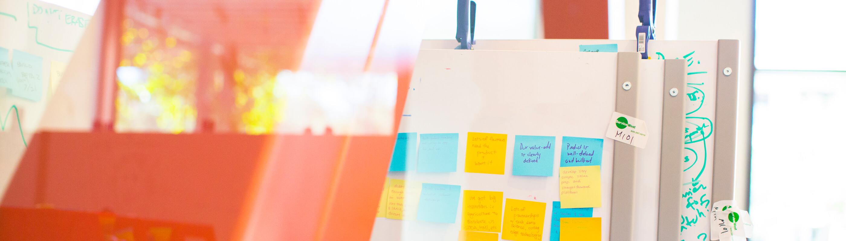 Startup Garage idea board