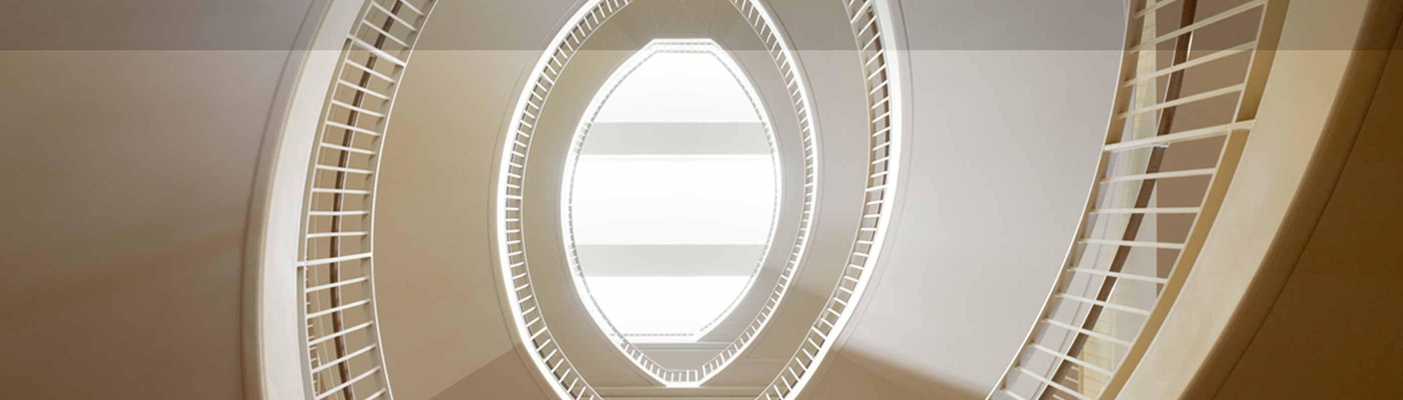 Circular stairwell in Bass Center