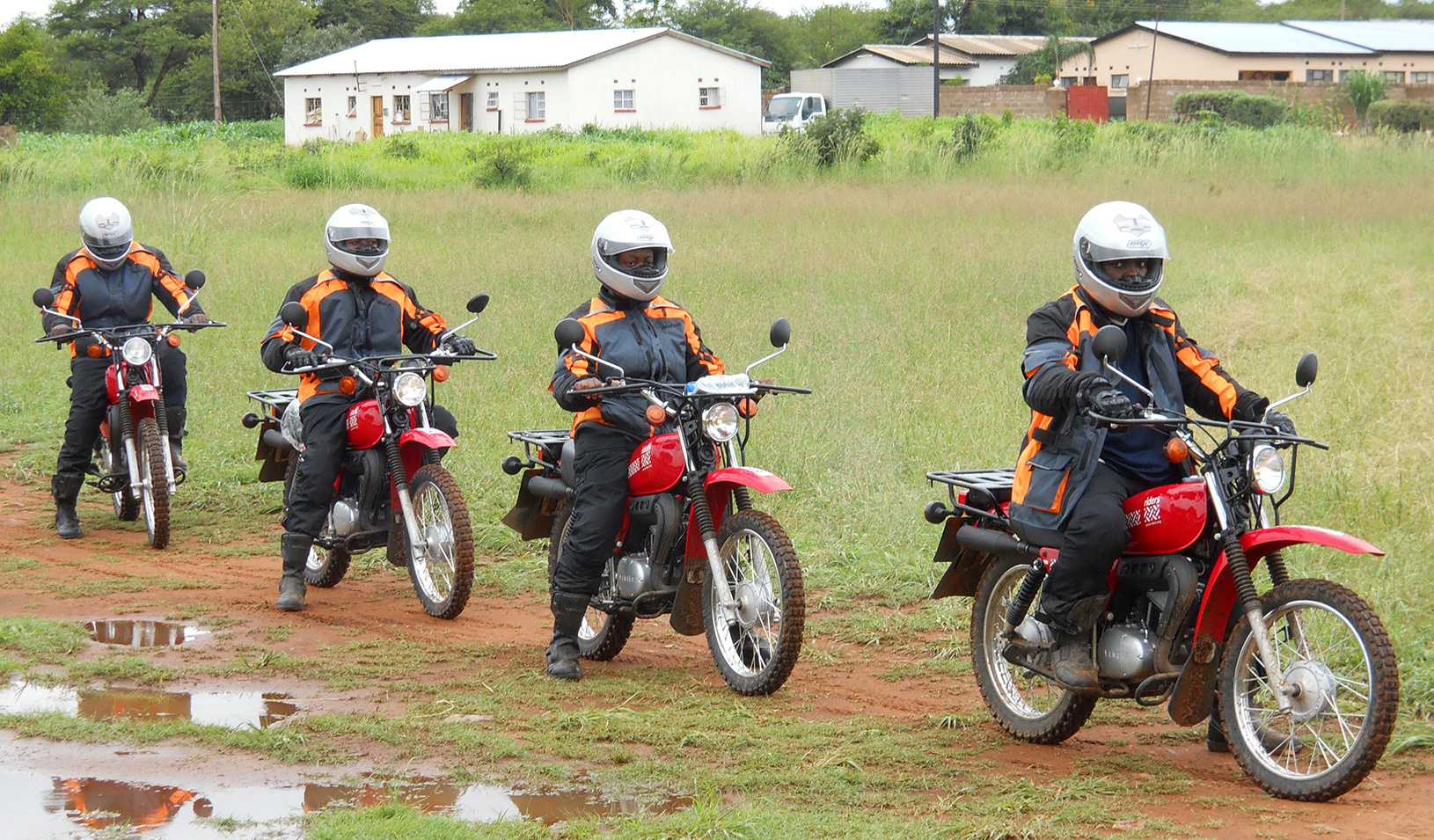 Riders for Health on motorbikes