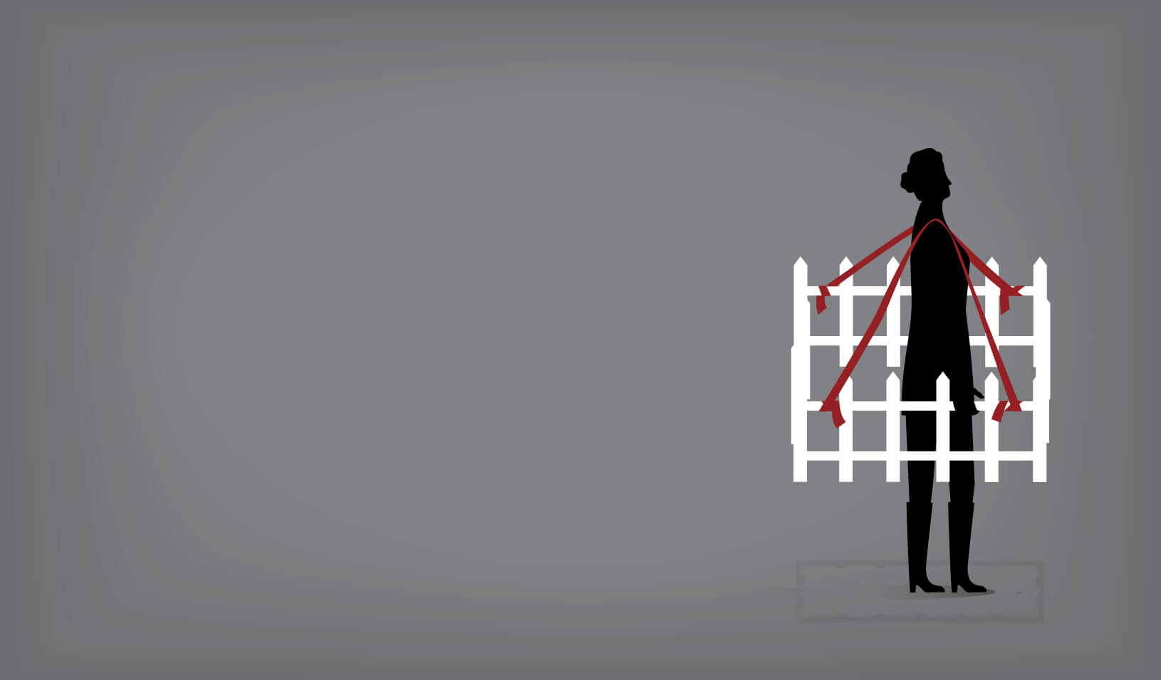 An illustration of woman is fenced into a small area | iStock/dane_mark